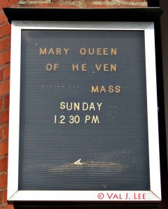 Queen of Heaven sign