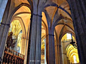 Cathedral in Sevilla Spain, © Val J. Lee